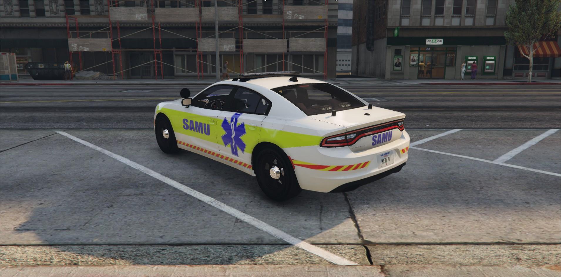 Dodge Charger RT SAMU | For FiveM And SP - GTA5-Mods com